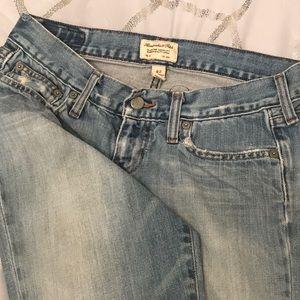 cut off, Capri  jeans, low waste, super cute sz 4S